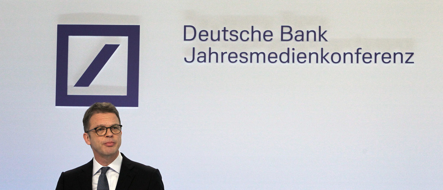 The CEO of Germany's biggest lender Deutsche Bank Christian Sewing addresses the media during the company's annual financial statement at its headquarters in Frankfurt, Germany, on February 01, 2019. - Deutsche Bank reported a 2018 bottom line in the black for the first time in four years, with a cost-cutting drive delivering results even as revenues fell. The firm reported 267 million euros ($305 million) net profit, compared with a loss of 751 million in 2017. (Photo: DANIEL ROLAND/AFP/Getty Images)