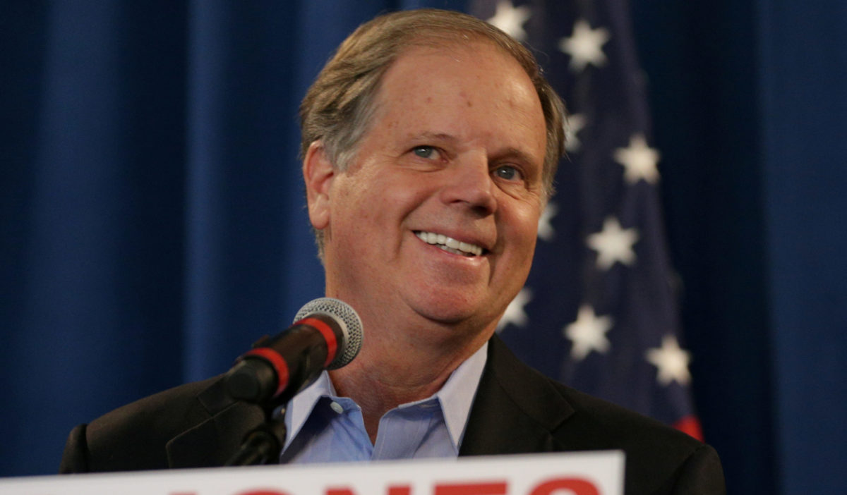 Democrat Doug Jones, who won the special U.S. Senate election against Republican candidate Roy Moore, speaks during a news conference in Birmingham
