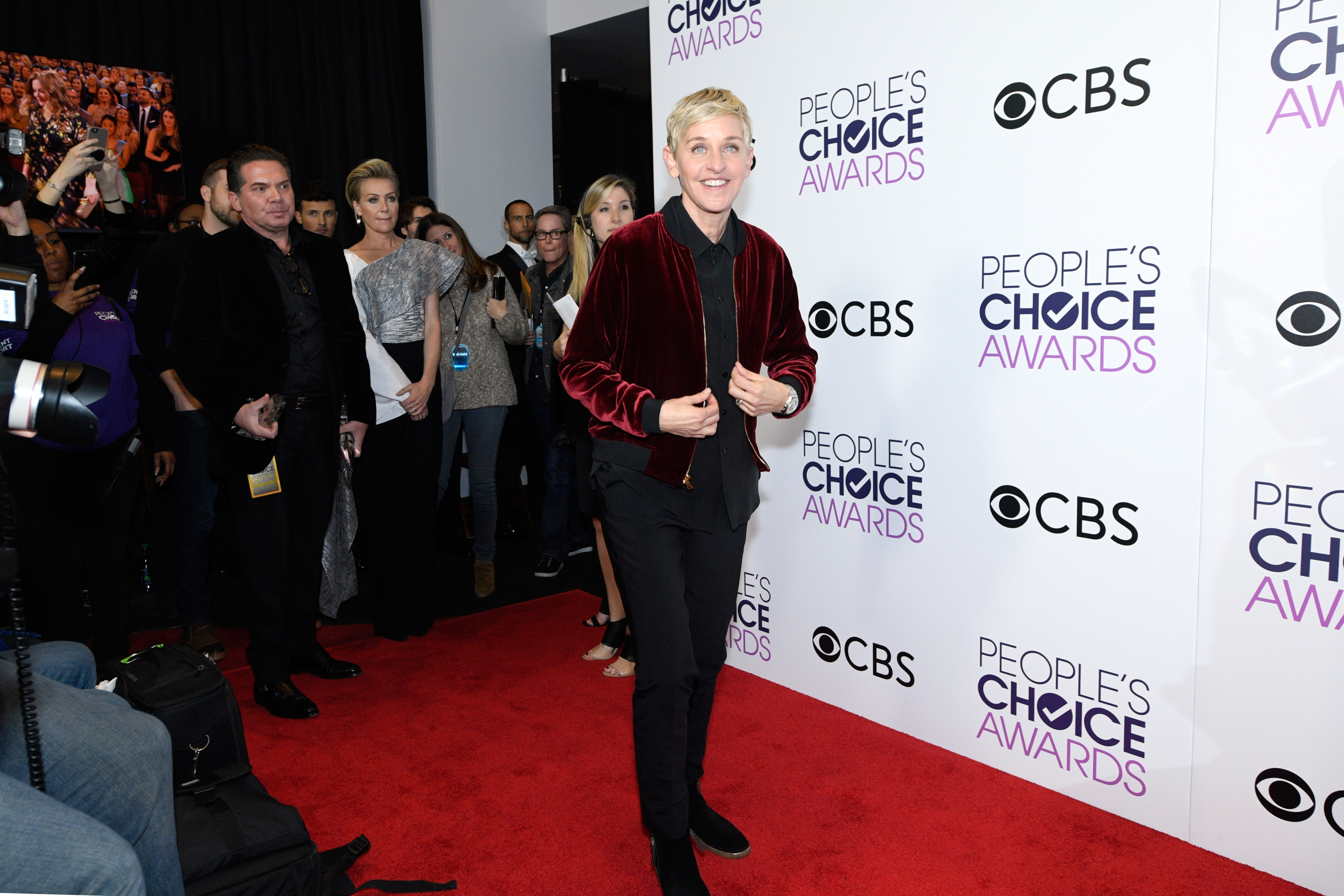 TV Personality Ellen Degeneres, poses in the press room during the People's Choice Awards 2017 at Microsoft Theater on January 18, 2017 in Los Angeles, California. (Photo by Kevork Djansezian/Getty Images)