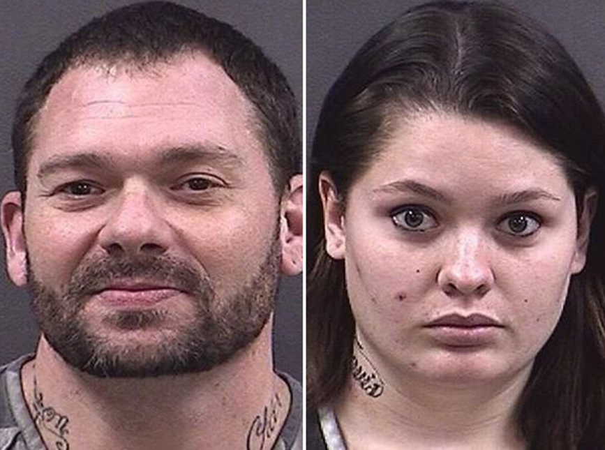 Pictured are Travis Fieldgrove L) and Samantha Kershner R). Screenshot/ Hall County Department of Corrections
