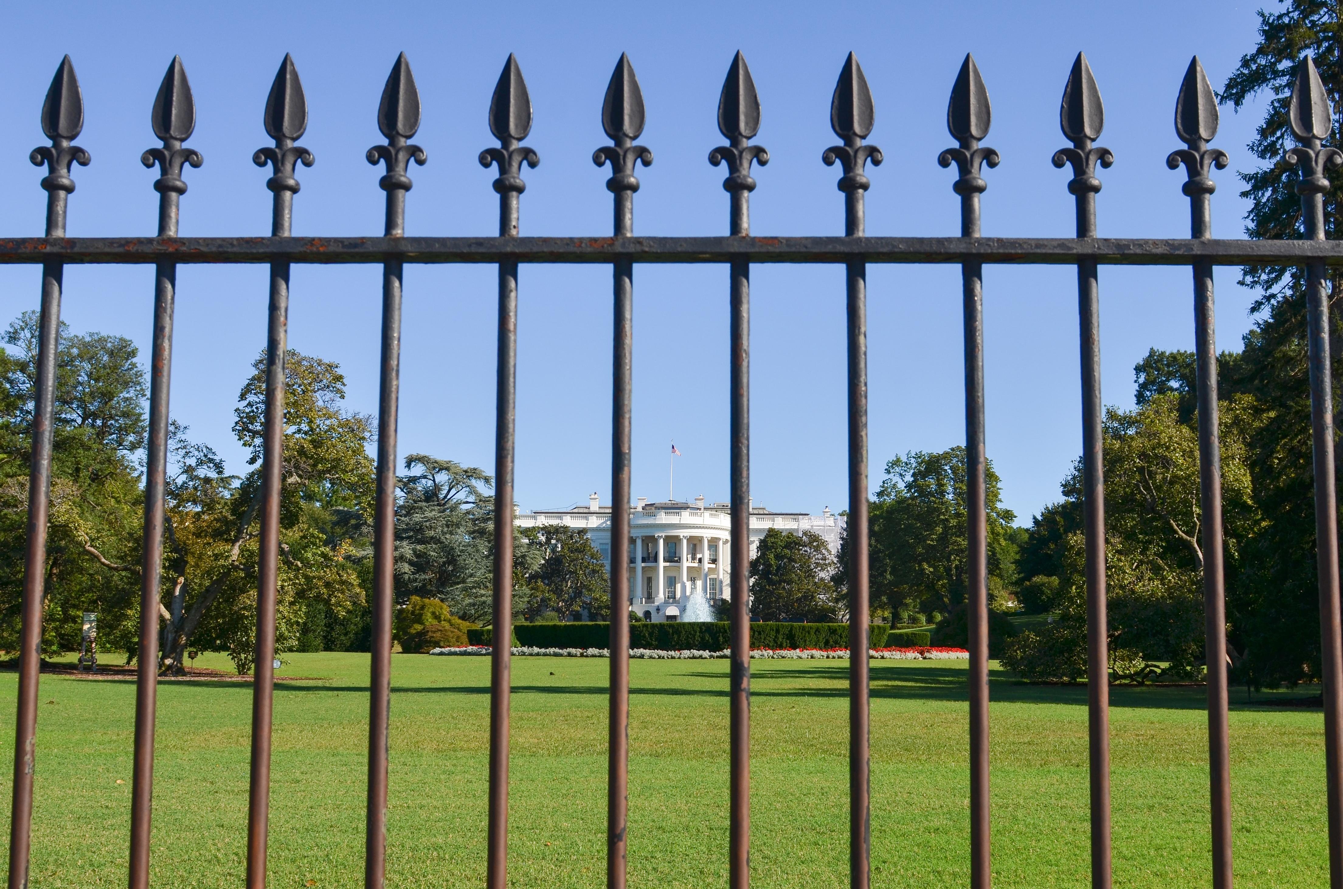 White House Fence. Shutterstock