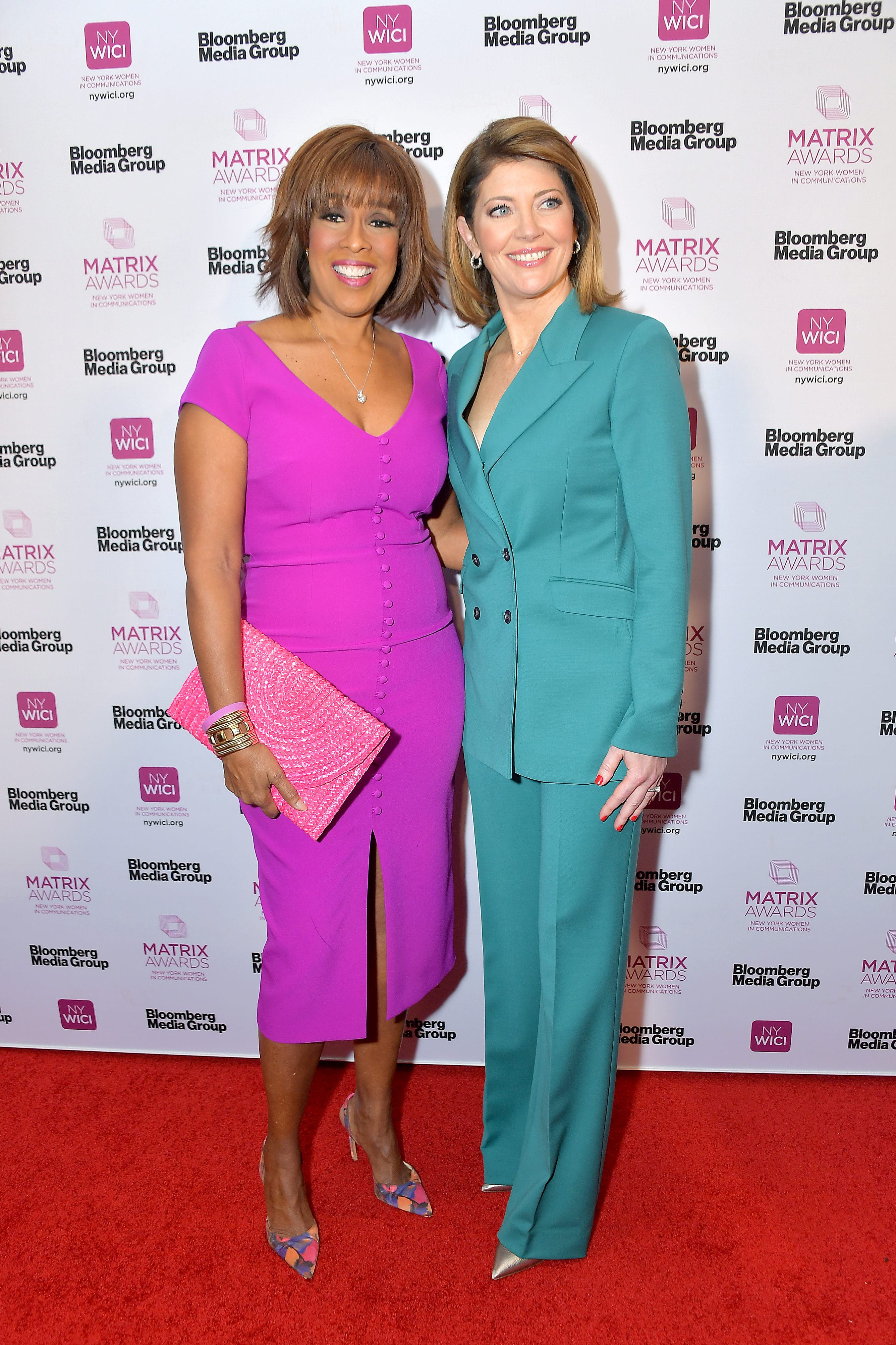 Gayle King (L) and honoree Norah O'Donnell attend the 2019 Matrix Awards at the Sheraton New York Times Square on May 06, 2019 in New York City. (Photo by Michael Loccisano/Getty Images)