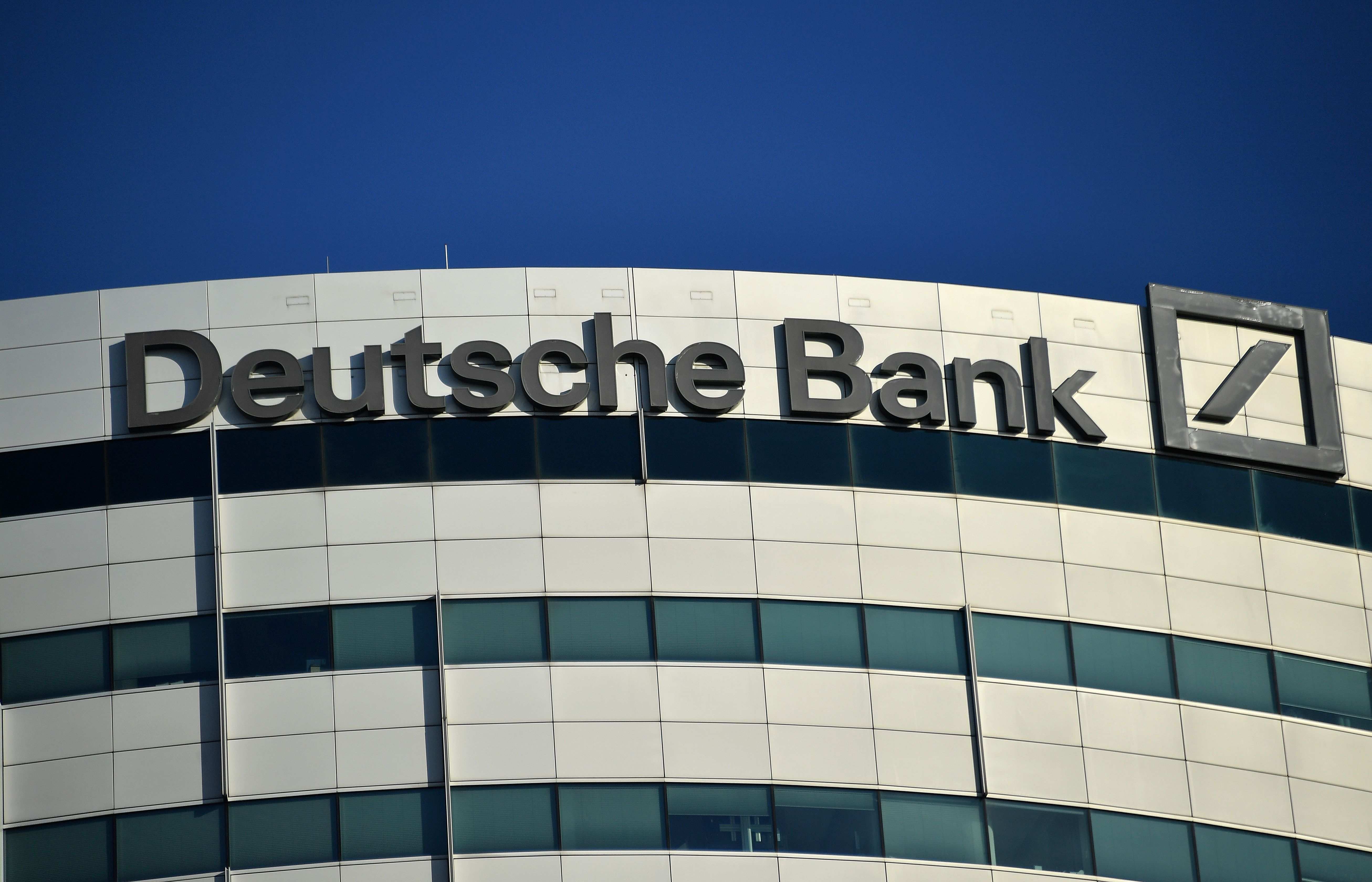 A view of German investment bank and financial services Deutsche Bank building in Amsterdam on October 14, 2018. (EMMANUEL DUNAND/AFP/Getty Images)