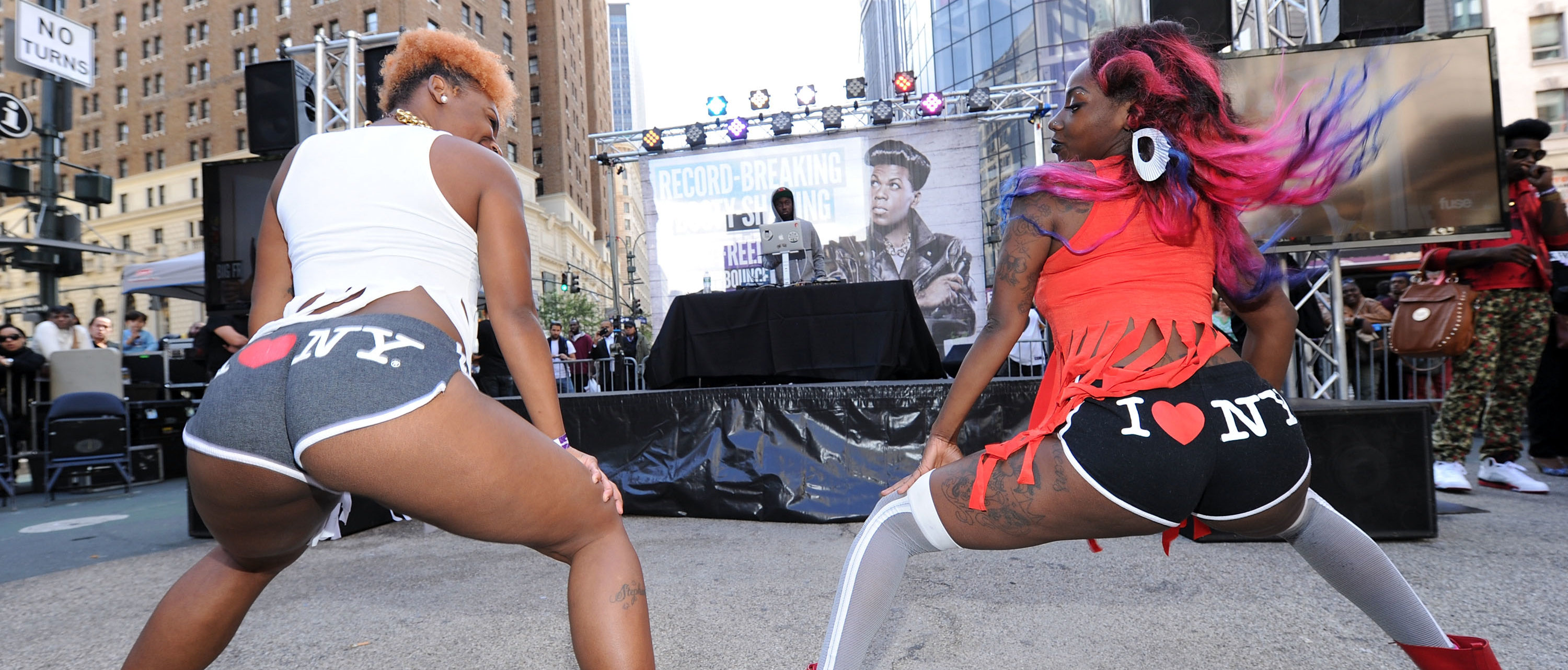 NEW YORK, NY - SEPTEMBER 25: A general view of atmosphere during the Guinness World Record And Big Freedia Twerking Event at Herald Square on September 25, 2013 in New York City. (Photo by Ilya S. Savenok/Getty Images)