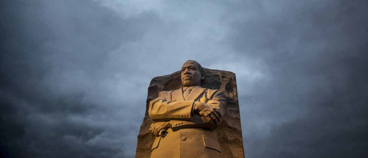 Early morning light shines on the Martin Luther King Jr. Memorial on the National Mall on January 19, 2015 in Washington, D.C.(Gabriella Demczuk/Getty Images)