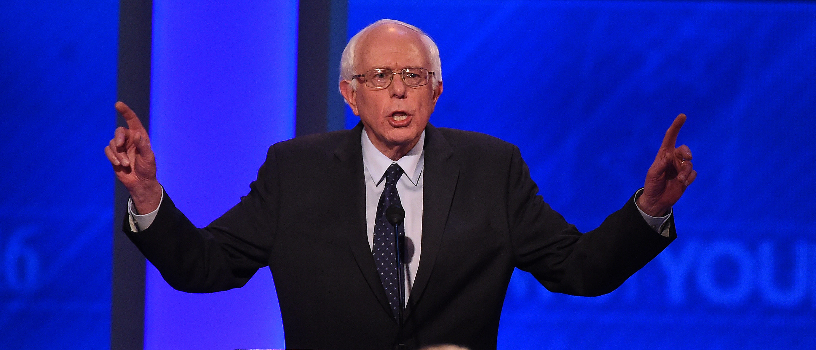 Democratic Sen. Bernie Sanders participates in the Democratic Presidential Debate hosted by ABC News at the Saint Anselm College in Manchester, New Hampshire, on December 19, 2015. (JEWEL SAMAD/AFP/Getty Images)