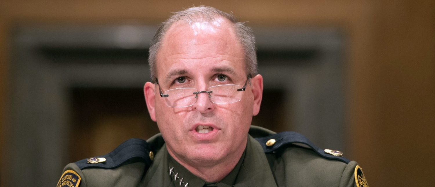 "Mark Morgan, chief of the US Border Patrol, testifies at a Senate Homeland Security and Governmental Affairs Committee hearing on ""Initial Observations of the New Leadership at the US Border Patrol"" on Capitol Hill in Washington, DC. (NICHOLAS KAMM/AFP/Getty Images)"