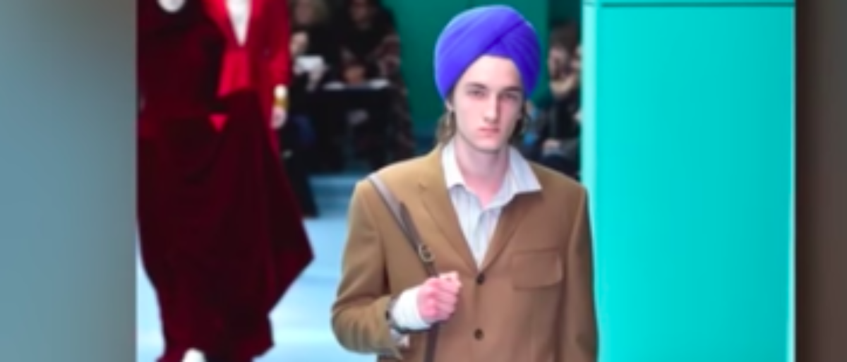 0dc933ba81b Gucci Receives Backlash After Selling A 'Full Indy Turban'. (Credit:  Youtube Screenshot / https://www.youtube.com/