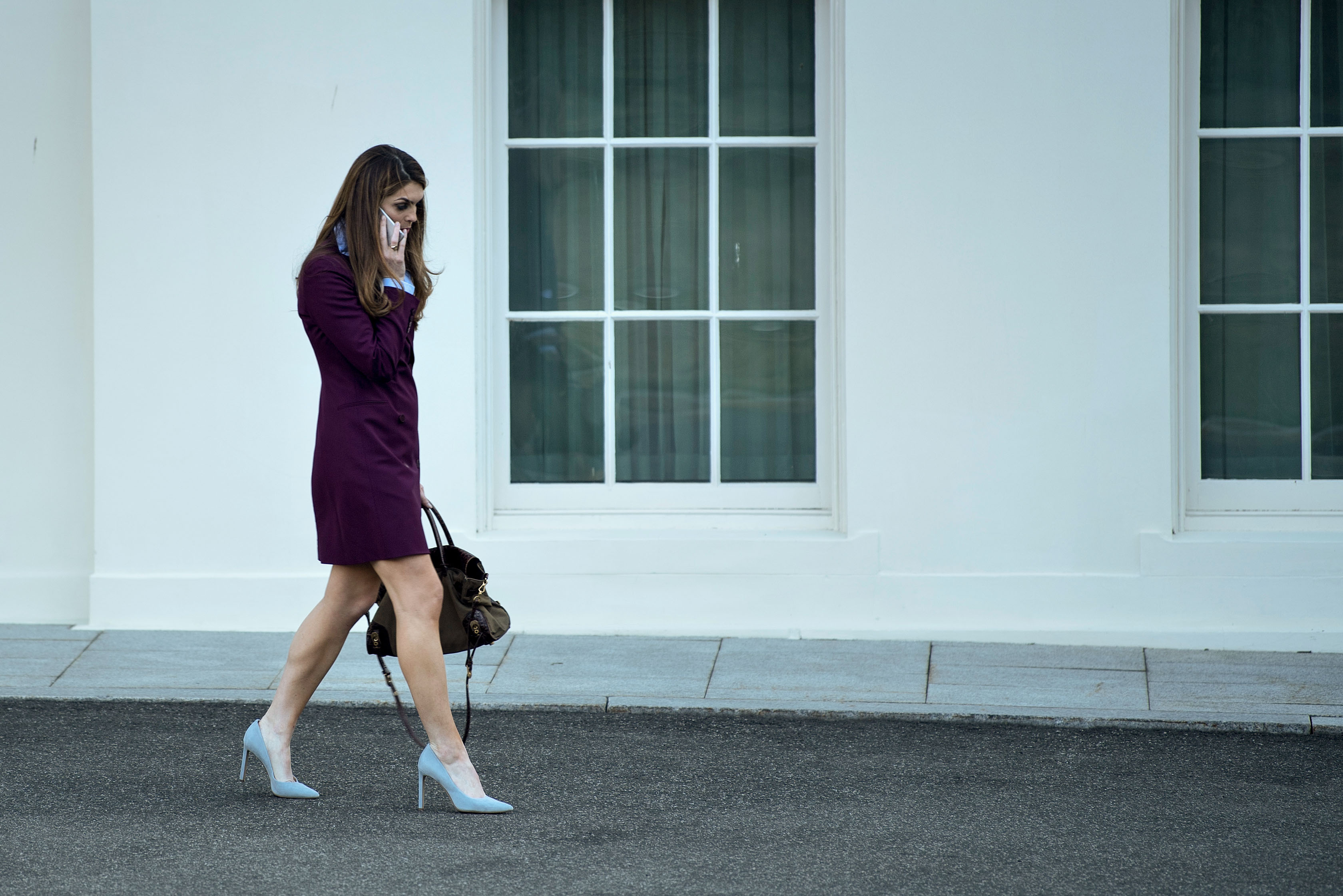 Hope Hicks leaves the White House on March 16, 2018. (Brendan Smialowski/AFP/Getty Images)
