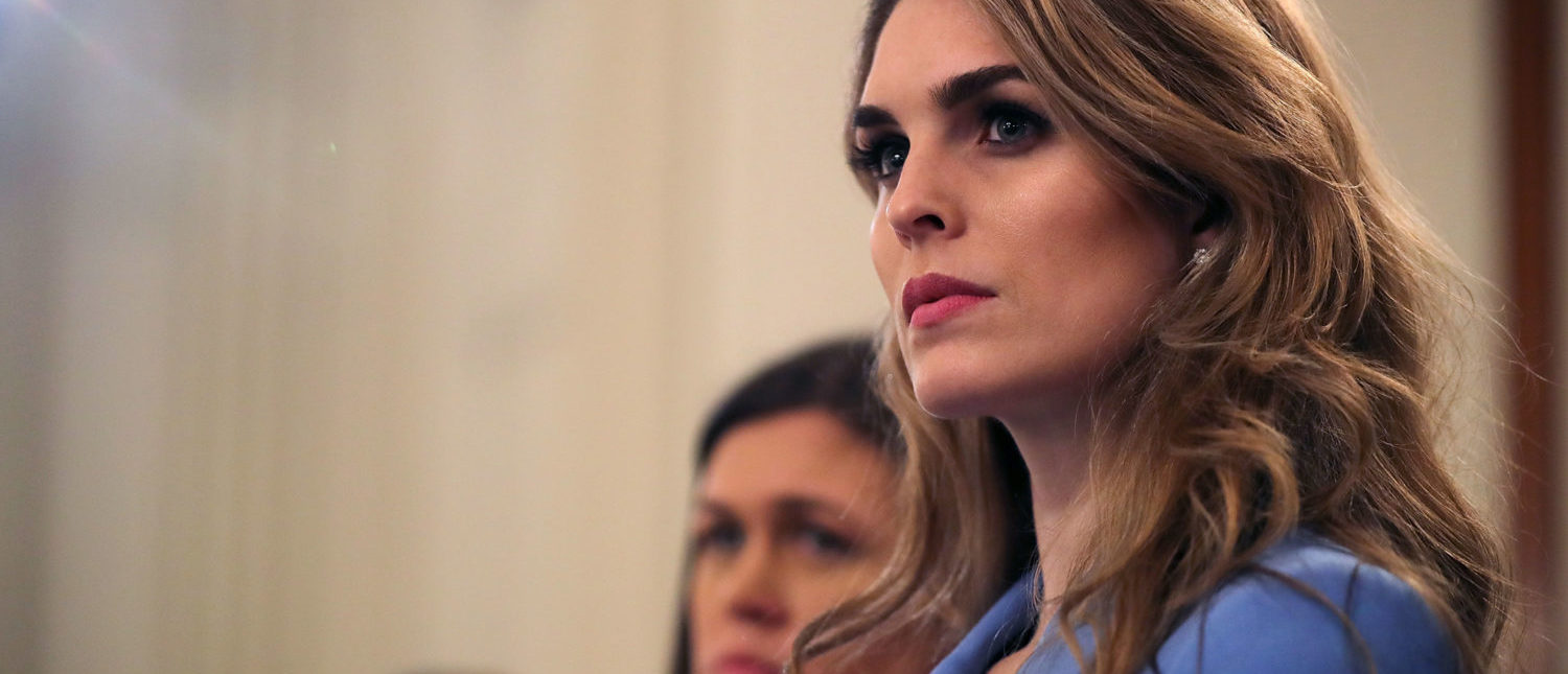 Hope Hicks attends a listening session featuring President Donald Trump and survivors of school shootings at the White House on February 21, 2018. (Chip Somodevilla/Getty Images)