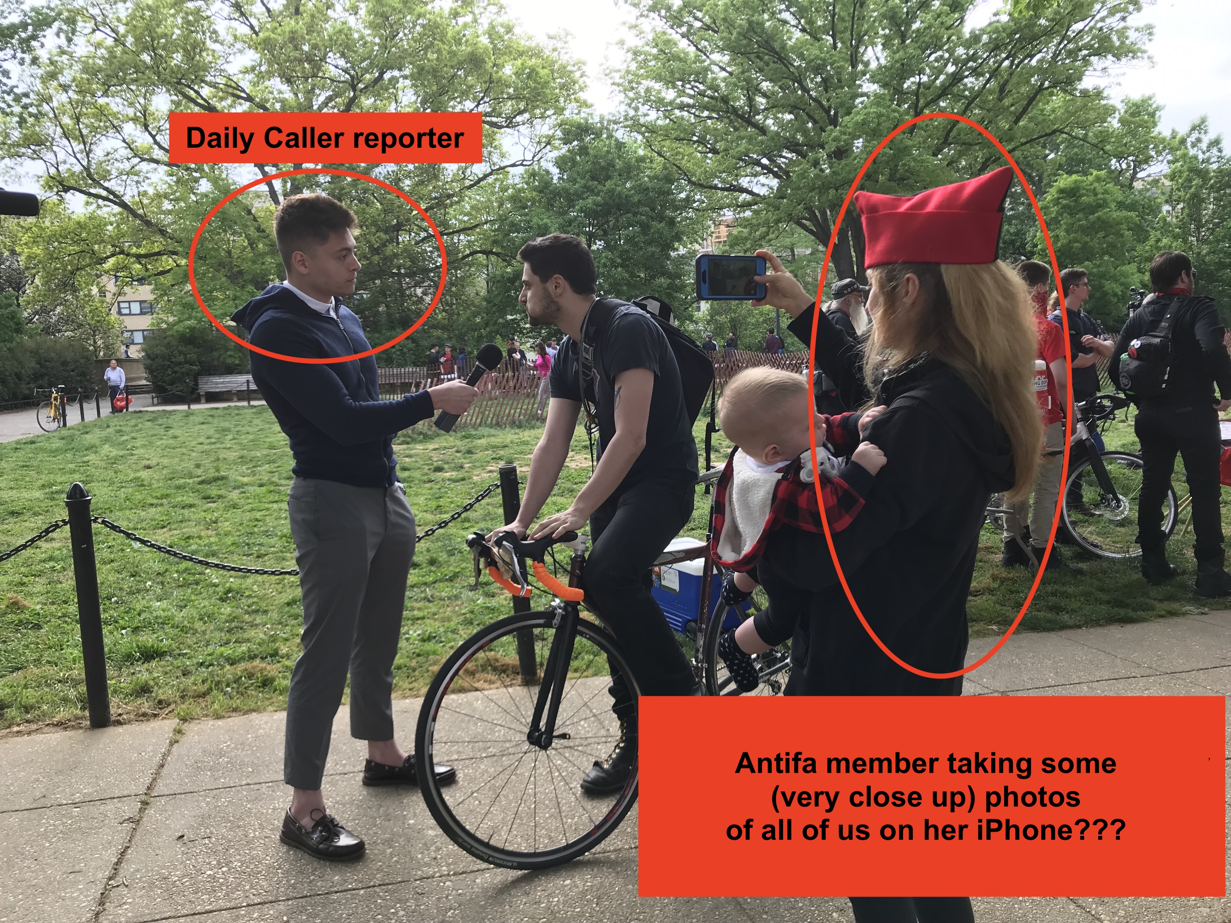 The Caller at the DC May Day strike, filmed by Lacy MacAuley