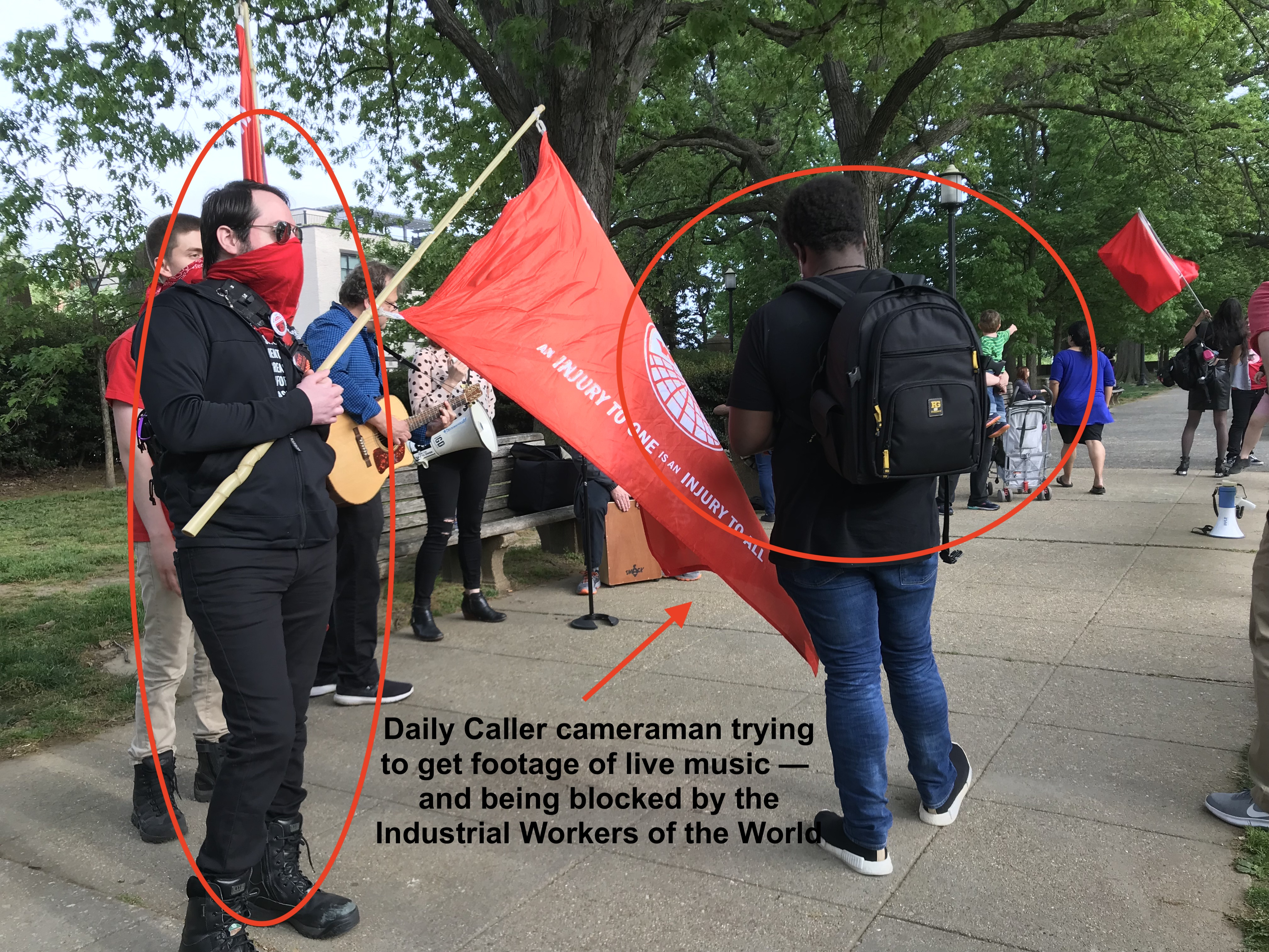 The Daily Caller at the DC May Day strike