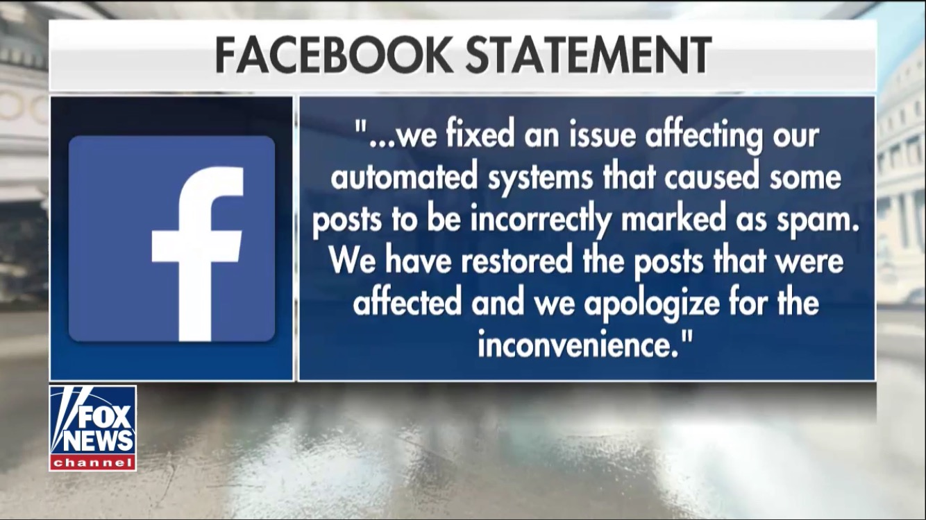 Screenshot of Facebook's statement regarding their censorship of Jenna Rives article. Screenshot provided by Jenna Rives.
