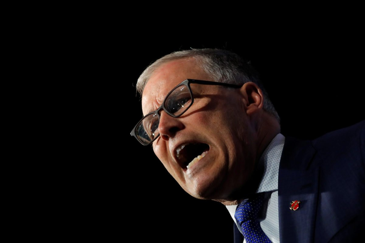 U.S. 2020 Democratic presidential candidate and Governor Jay Inslee participates in a moderated discussion at the We the People Summit in Washington, U.S., April 1, 2019. REUTERS/Carlos Barria