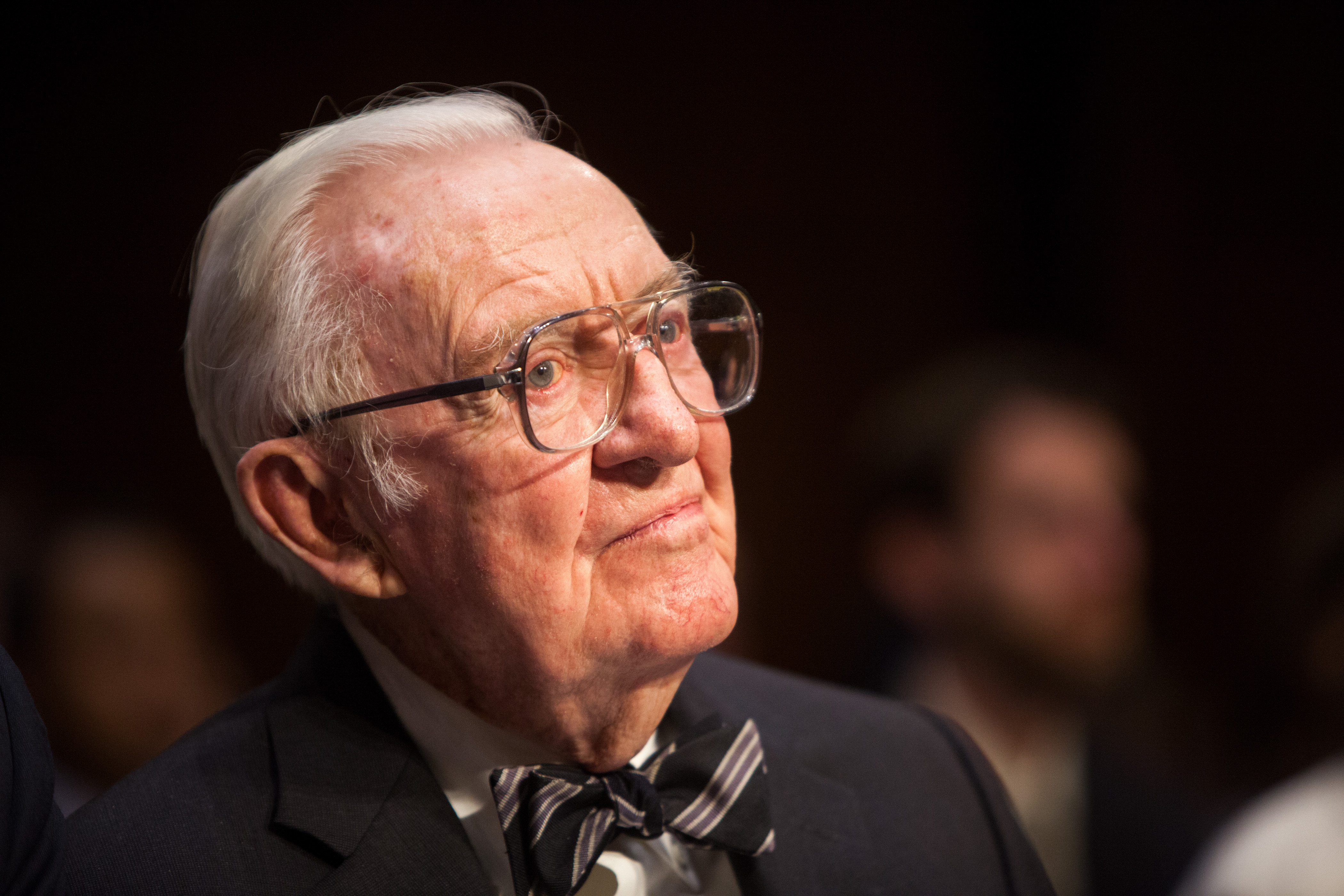 Former Supreme Court Justice John Paul Stevens testifies before the Senate Committee on Campaign Finance on April 30, 2014 (Allison Shelley/Getty Images)