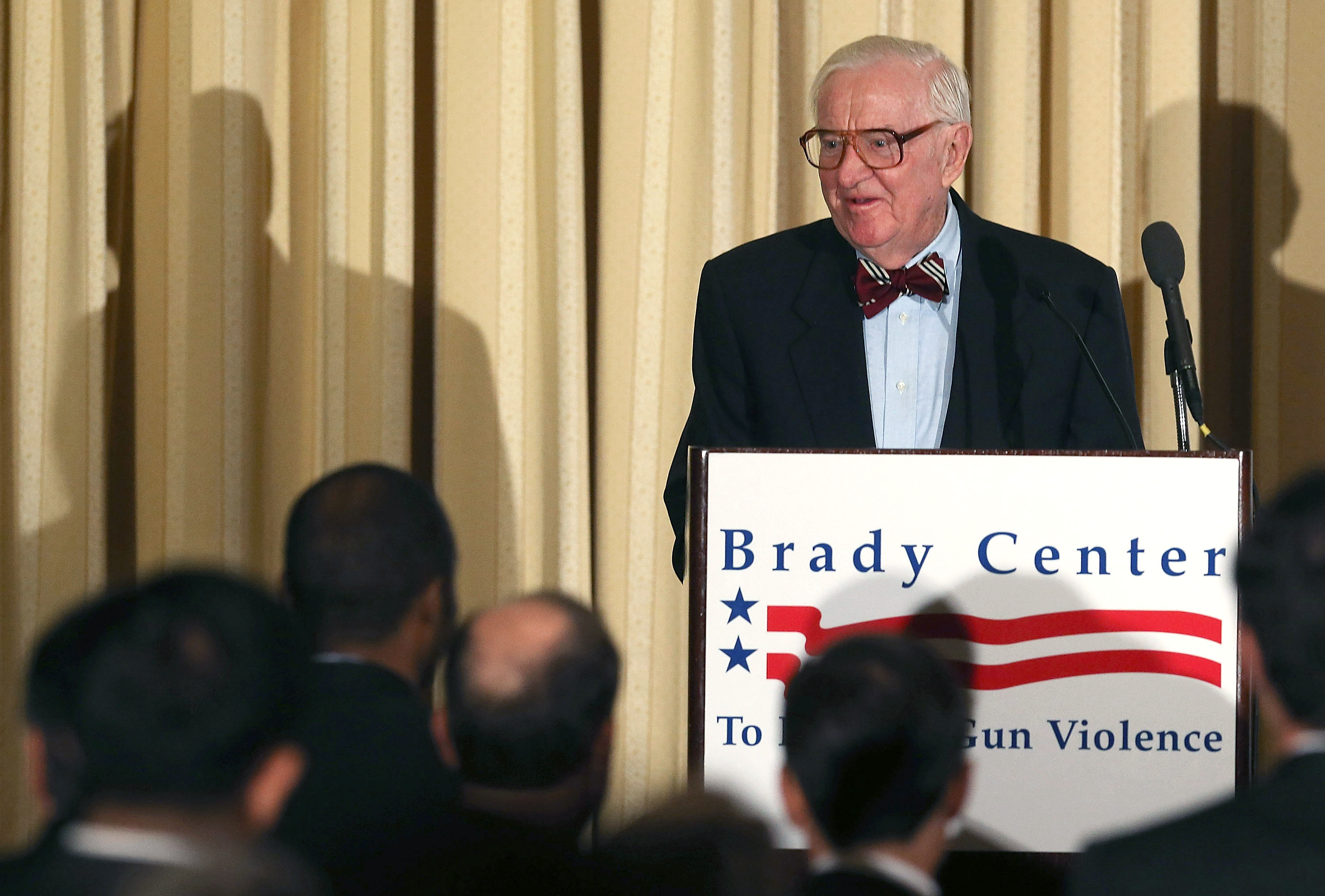Retired Justice John Paul Stevens speaks about gun laws at a luncheon hosted by the Brady Campaign Center to Prevent Gun Violence on October 15, 2012 in Washington, D.C (Mark Wilson/Getty Images)