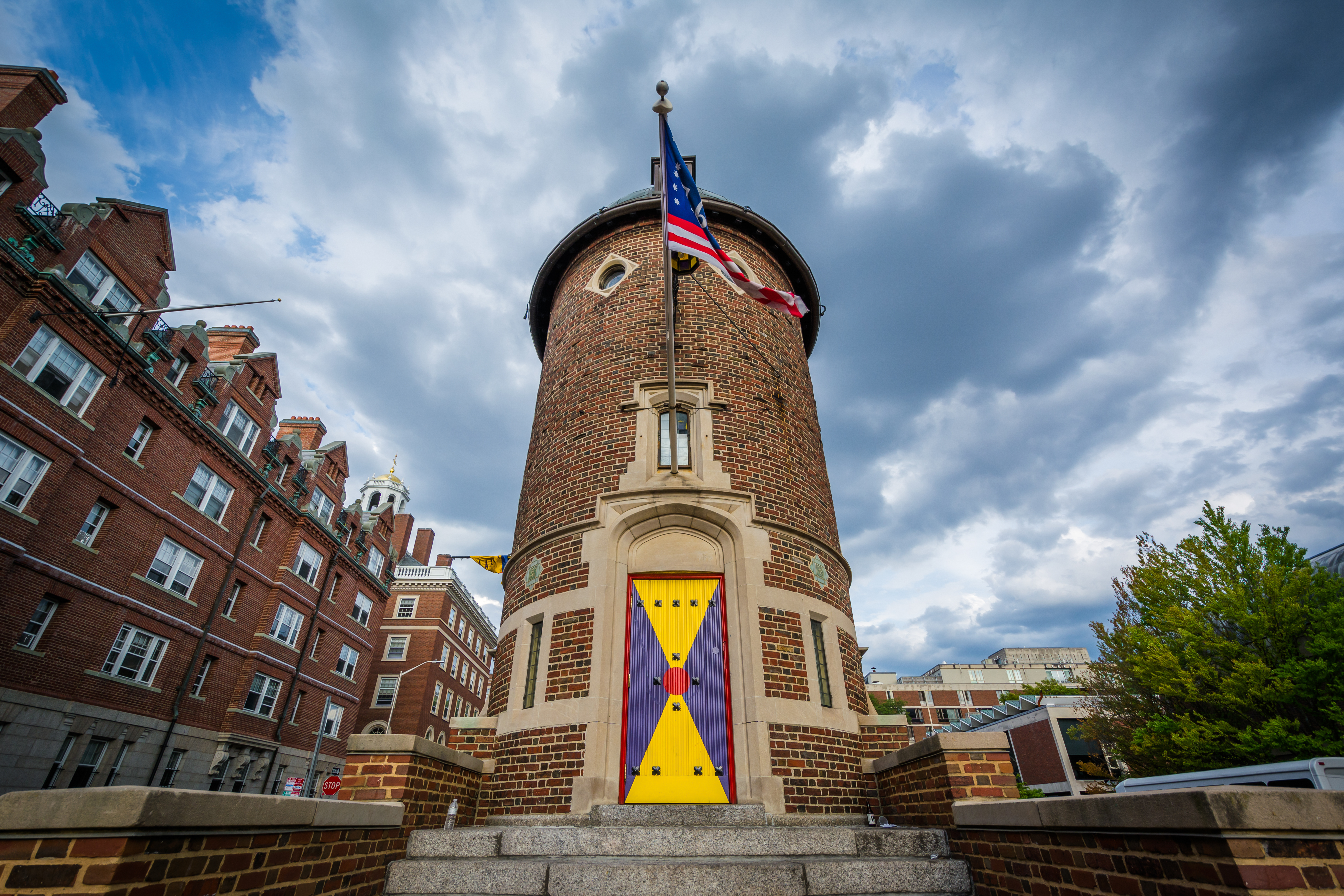 The Harvard Lampoon Building, at Harvard University, in Cambridge, Massachusetts. Jon Bilous, Shutterstock.