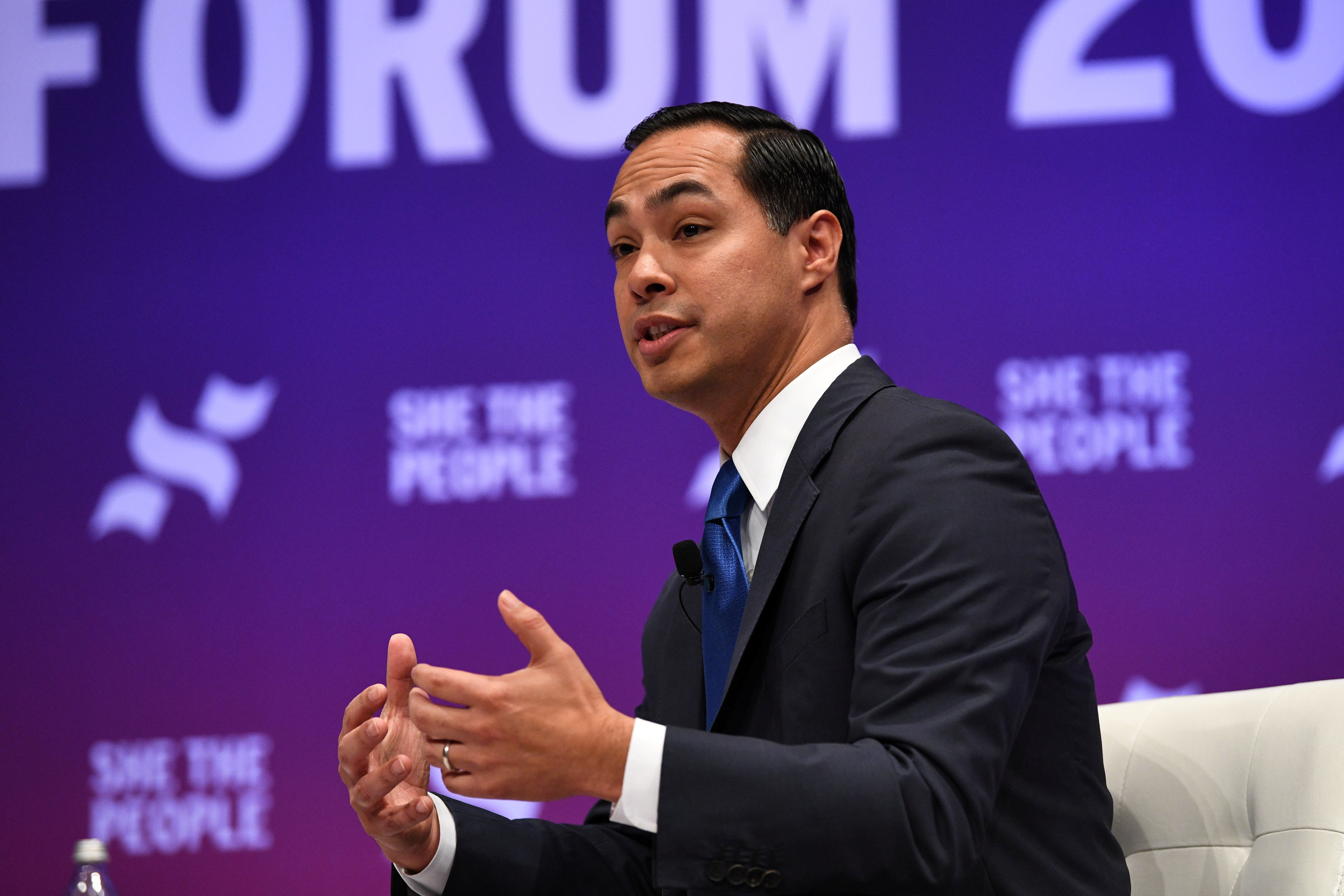 U.S. Democratic presidential candidate Julian Castro participates in the She the People Presidential Forum in Houston, Texas, U.S. April 24, 2019. REUTERS/Loren Elliott