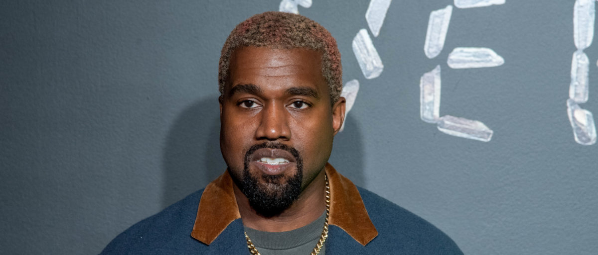 Kanye West attends the the Versace fall 2019 fashion show at the American Stock Exchange Building in lower Manhattan on December 02, 2018 in New York City. (Photo by Roy Rochlin/Getty Images)