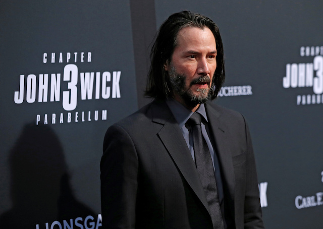 "Cast member Keanu Reeves arrives for a screening of the movie ""John Wick: Chapter 3 - Parabellum"" in Los Angeles, California, U.S. May 15, 2019. REUTERS/Mario Anzuoni"