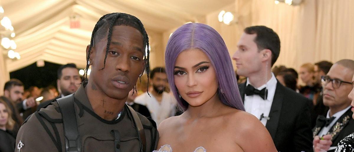 Travis Scott and Kylie Jenner attend The 2019 Met Gala Celebrating Camp: Notes on Fashion at Metropolitan Museum of Art on May 06, 2019 in New York City. (Photo by Neilson Barnard/Getty Images)