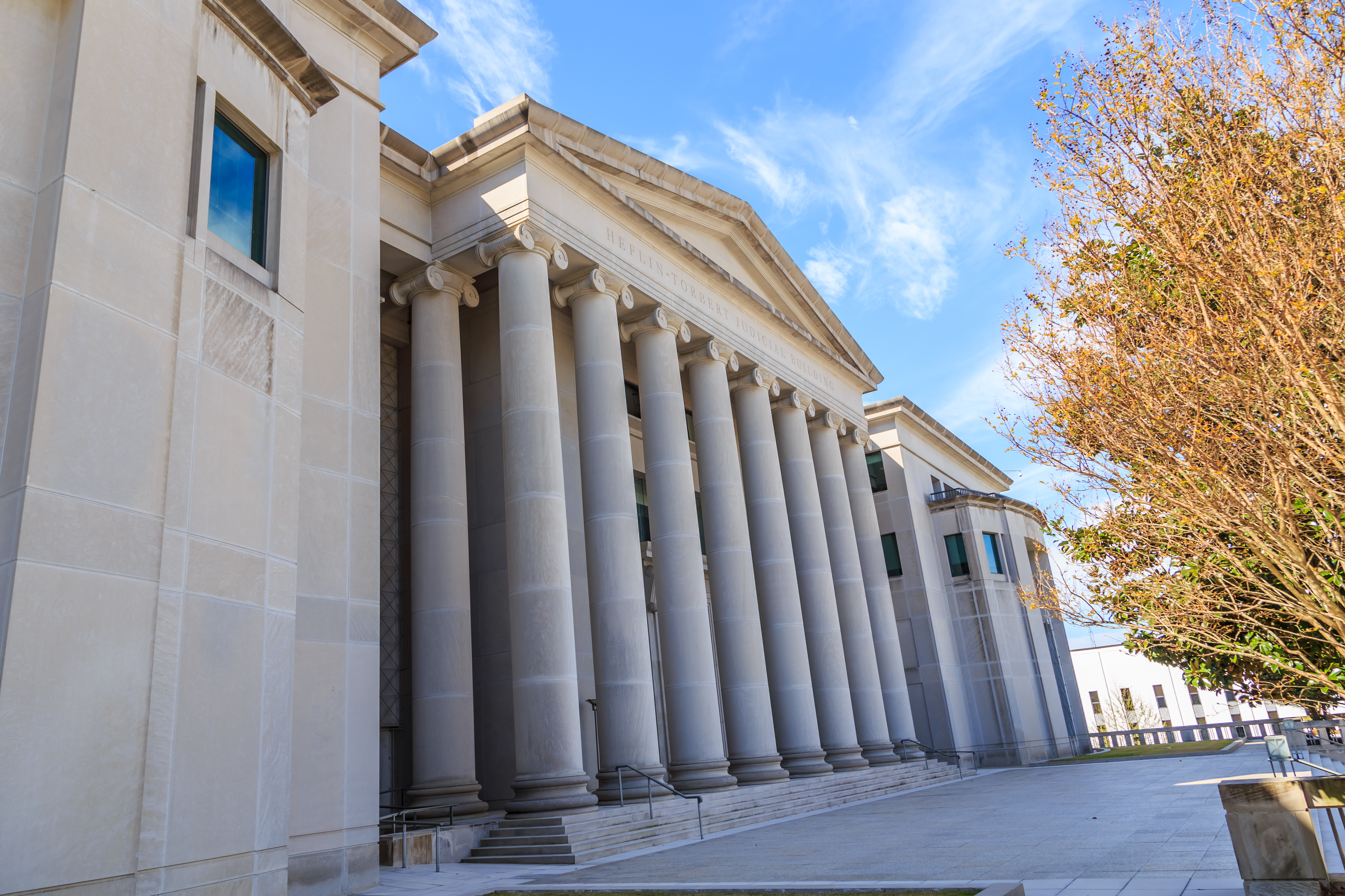 MONTGOMERY, ALABAMA - MARCH 17, 2019- Historic Heflin Torbert or Judicial Building- The Alabama Judicial Building which houses the Supreme Court of Alabama, Alabama Court of Civil Appeals, Mccallk69, Shutterstock.