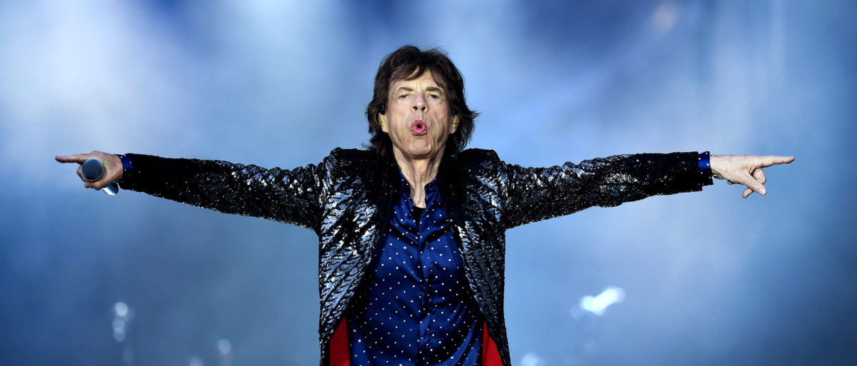 Mick Jagger of The Rolling Stones performs live on stage on the opening night of the european leg of their No Filter tour at Croke Park on May 17, 2018 in Dublin, Ireland. (Photo by Charles McQuillan/Getty Images)
