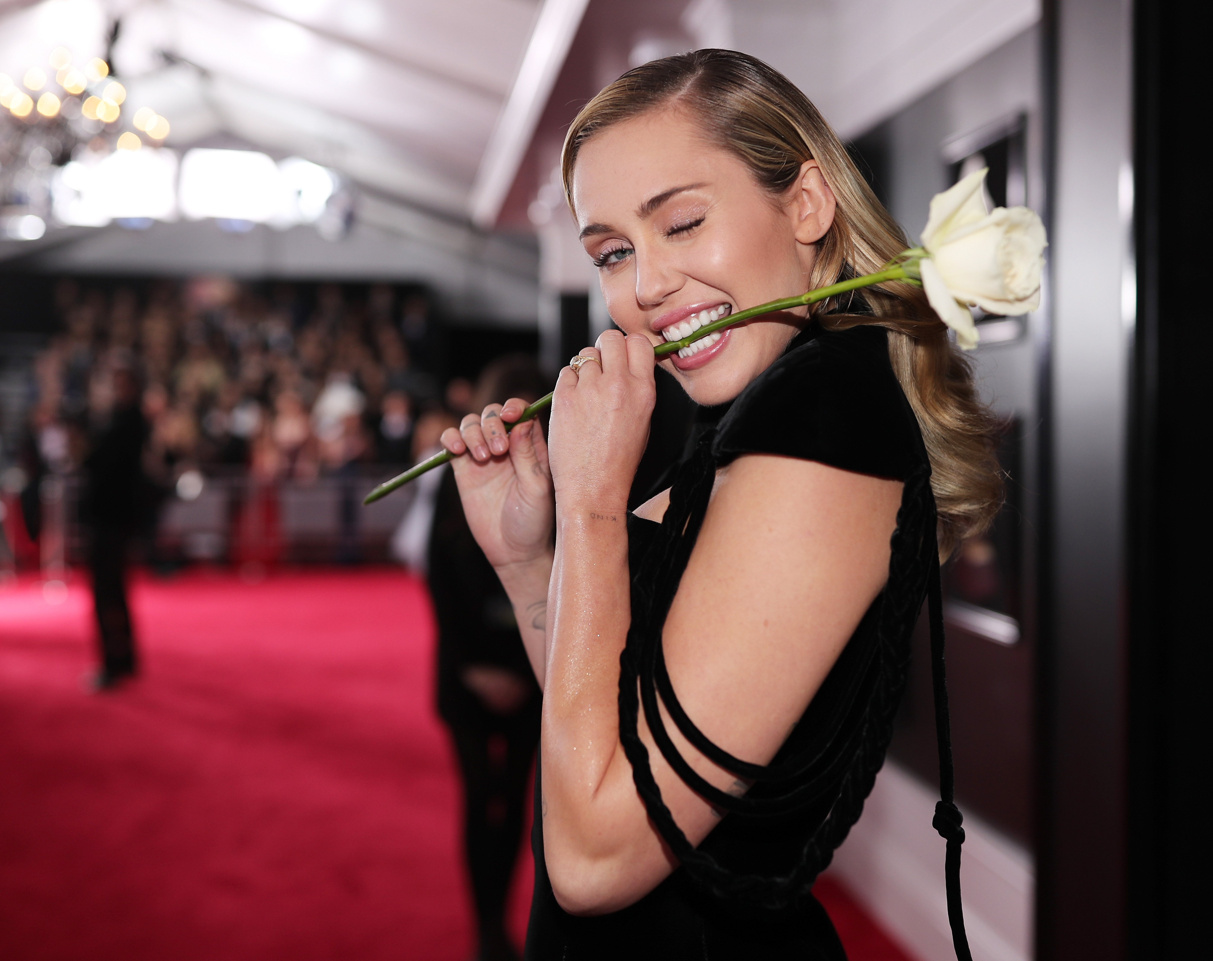 Recording artist Miley Cyrus attends the 60th Annual GRAMMY Awards at Madison Square Garden on January 28, 2018 in New York City. (Photo by Christopher Polk/Getty Images for NARAS)