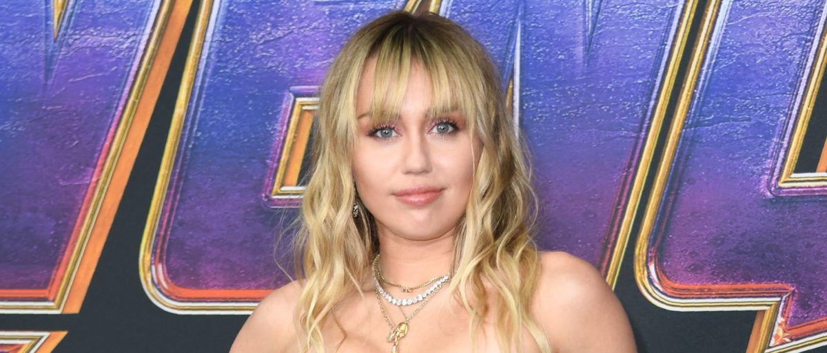 "US singer Miley Cyrus arrives for the World premiere of Marvel Studios' ""Avengers: Endgame"" at the Los Angeles Convention Center on April 22, 2019 in Los Angeles. (Photo credit VALERIE MACON/AFP/Getty Images)"