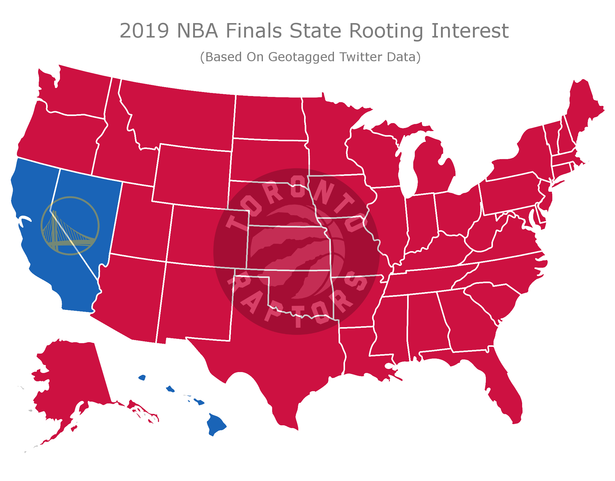 NBA Finals Map (Credit: BetOnline.ag)