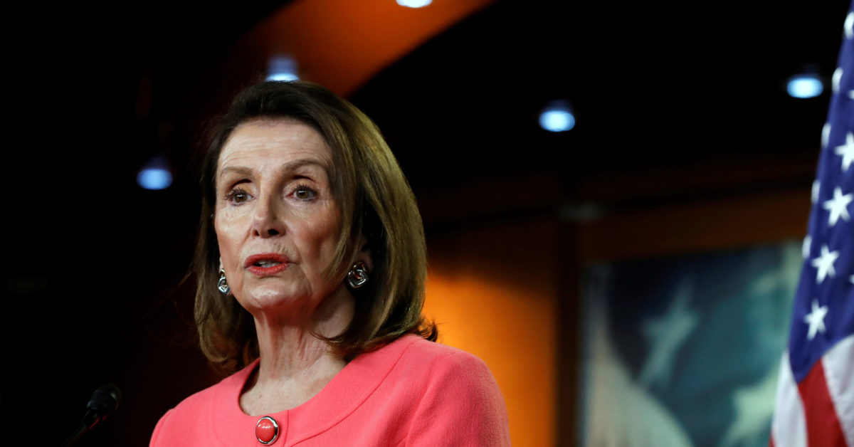 House Speaker Nancy Pelosi holds a weekly news conference on Capitol Hill in Washington