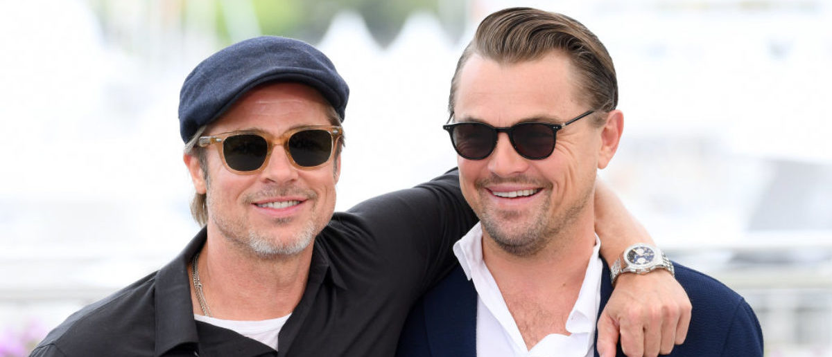 """CANNES, FRANCE - MAY 22: Brad Pitt and Leonardo DiCaprio attend thephotocall for """"Once Upon A Time In Hollywood"""" during the 72nd annual Cannes Film Festival on May 22, 2019 in Cannes, France. (Photo by Gareth Cattermole/Getty Images)"""