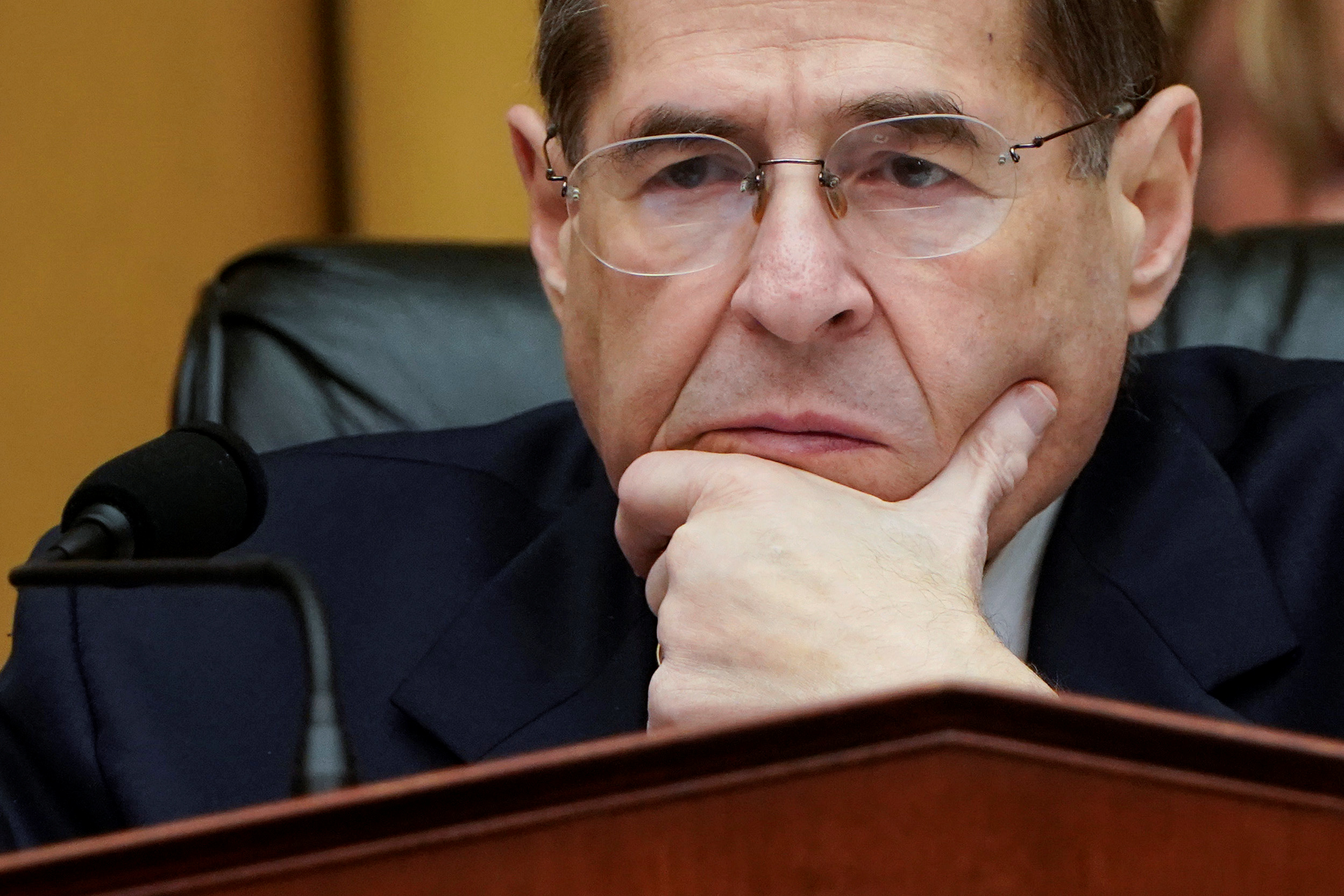 Chairman of the House Judiciary Committee Jerrold Nadler (D-NY) listens to testimony during a mark up hearing on Capitol Hill in Washington, U.S., March 26, 2019. REUTERS/Joshua Roberts