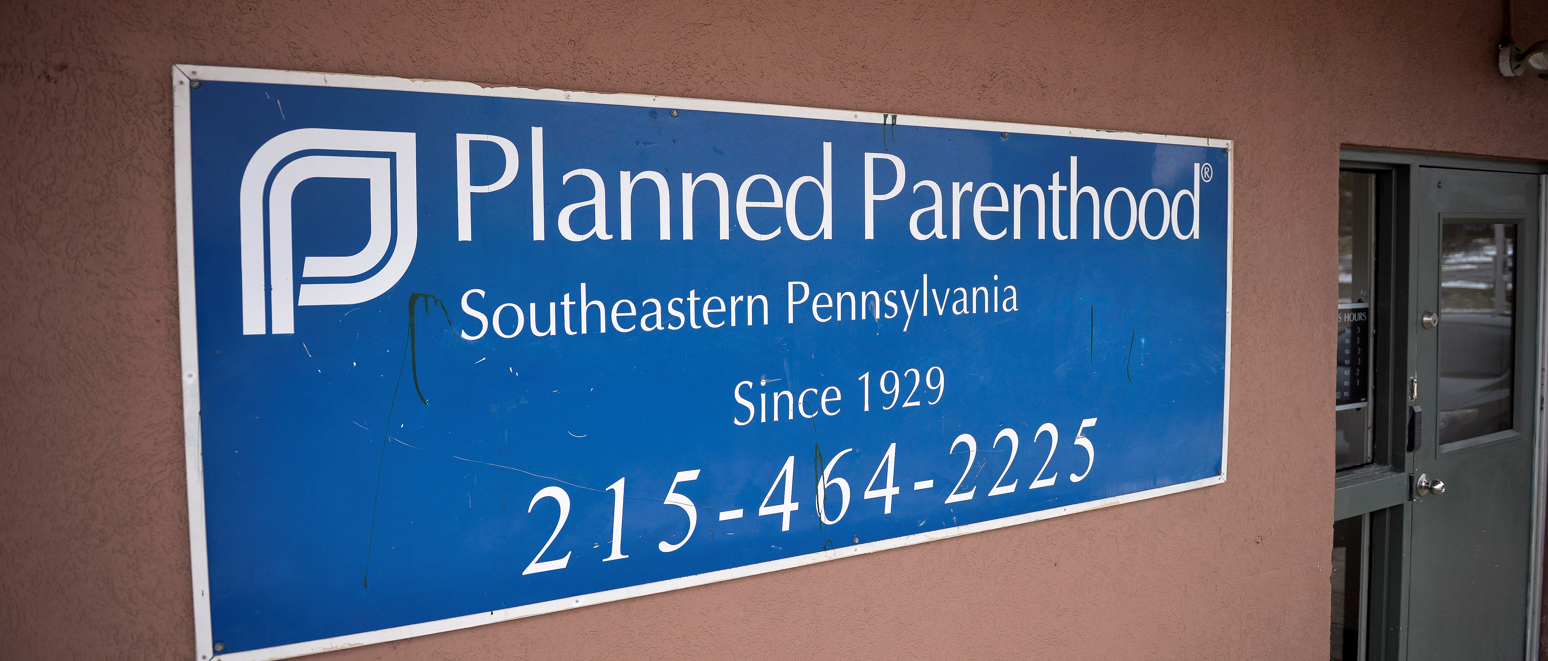 The sign of the Planned Parenthood centre is pictured in Philadelphia, Pennsylvania, U.S., February 11, 2017. REUTERS/Charles Mostoller