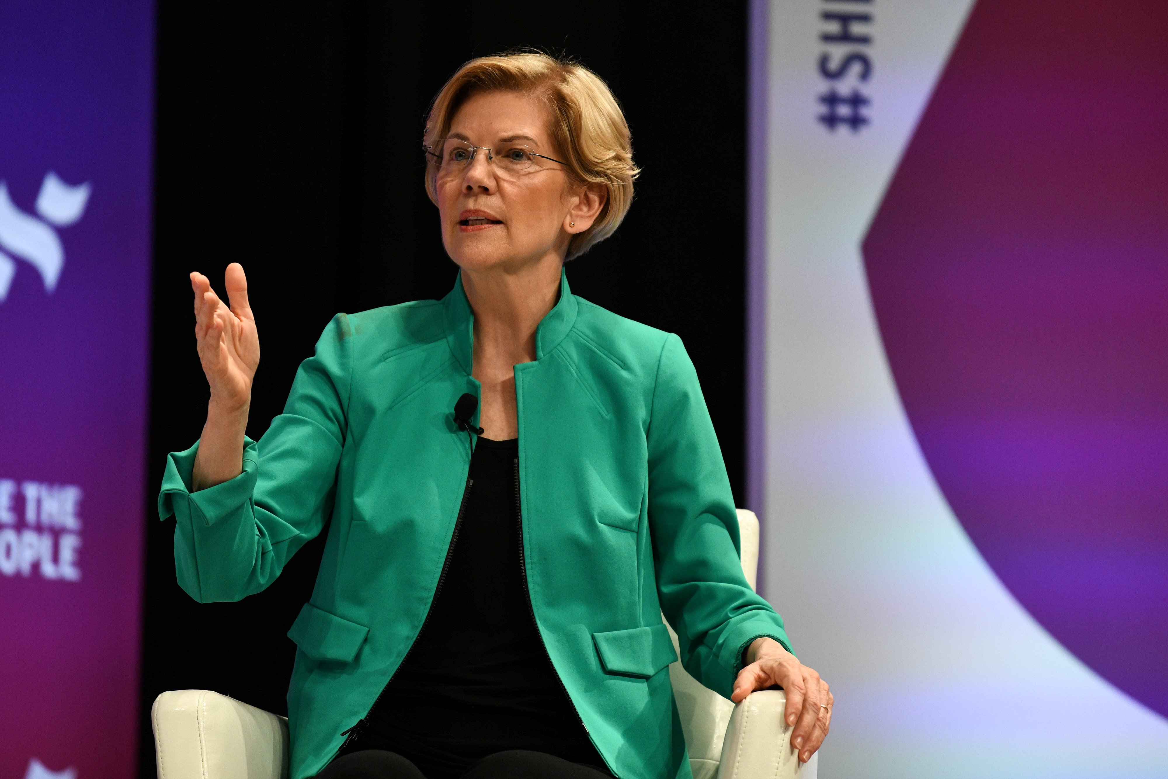 2020 Democratic presidential candidate Elizabeth Warren participates in the She the People Presidential Forum in Houston