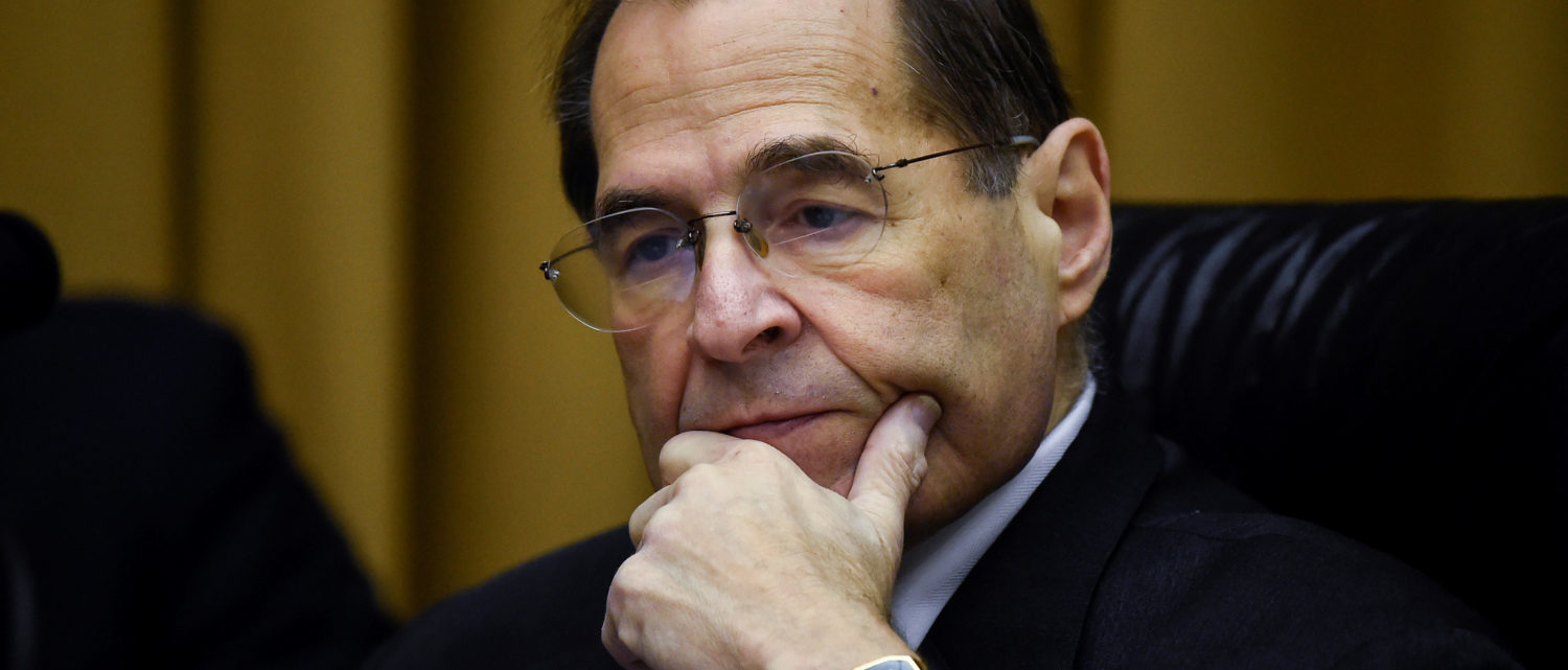 "House Judiciary Committee Chair Jerry Nadler (D-NY) chairs a House Judiciary Committee hearing on ""the Justice Department's investigation of Russian interference with the 2016 presidential election"", that U.S. Attorney General Barr had been scheduled to appear at, on Capitol Hill in Washington, U.S., May 2, 2019. REUTERS/Clodagh Kilcoyne"