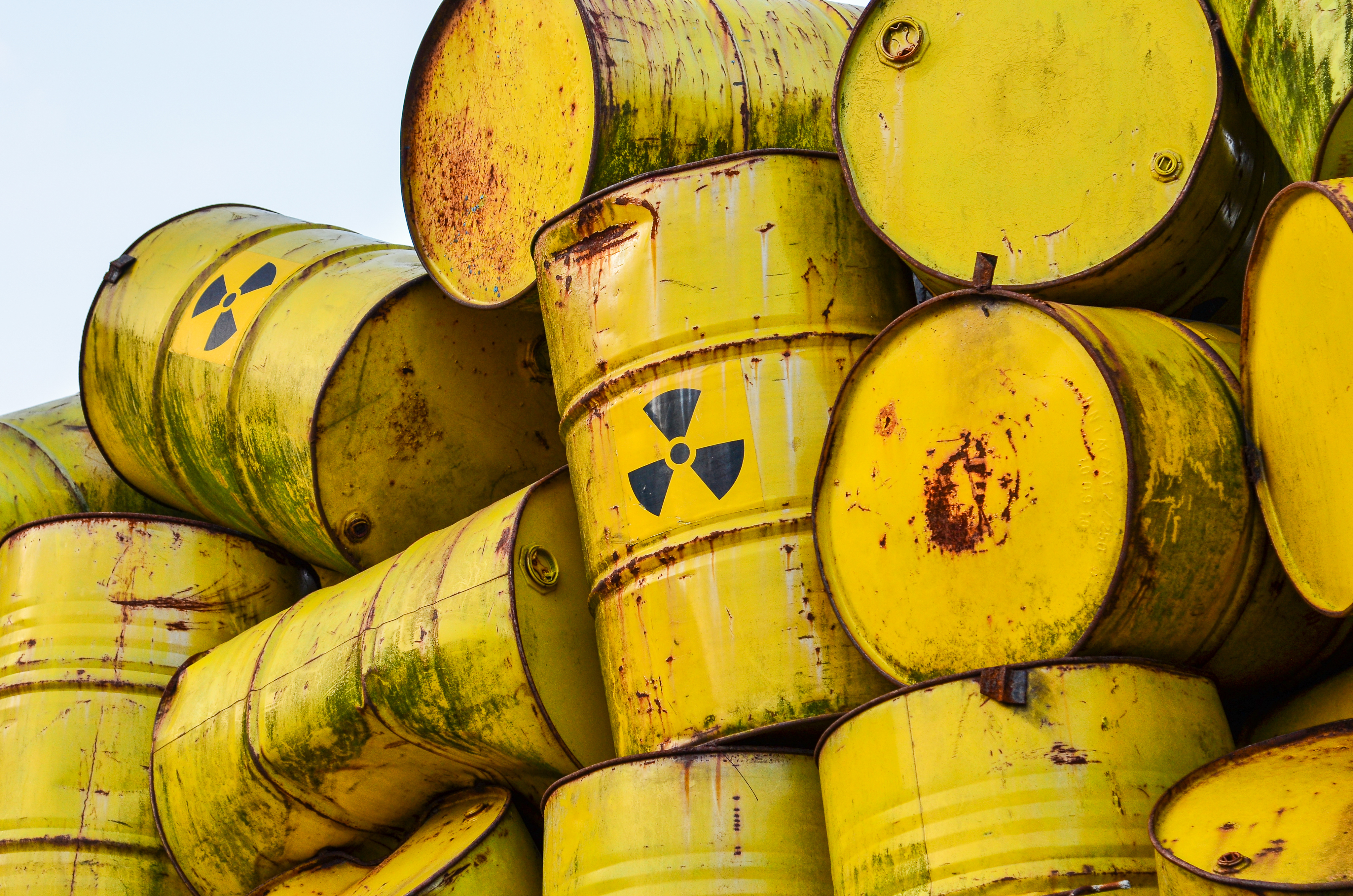 Pictured are radioactive waste barrels. SHUTTERSTOCK/Zoltan Acs