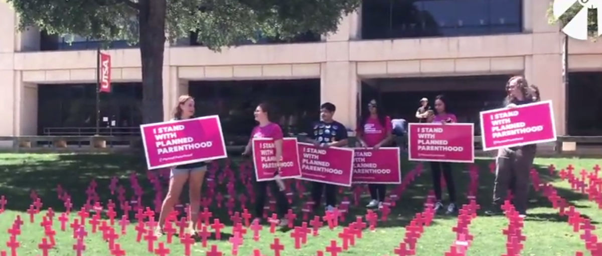 Students dance on Cemetary for the Unborn, Screenshot of Student's For Life Video