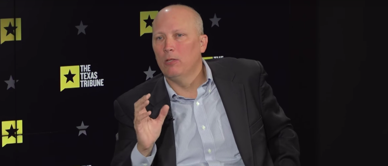 Republican Texas Rep. Chip Roy speaks with the Texas Tribune (screenshot)