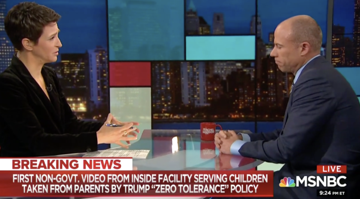 Report: MSNBC Says They 'Appropriately Covered' Michael Avenatti