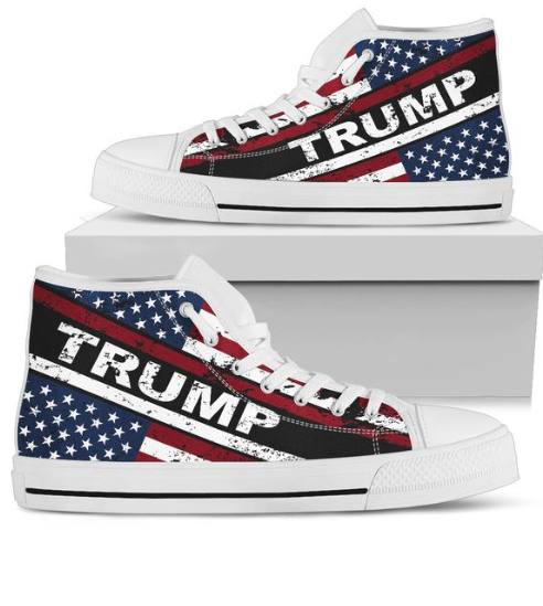 These Trump American Flag high top shoes can help you make a statement!