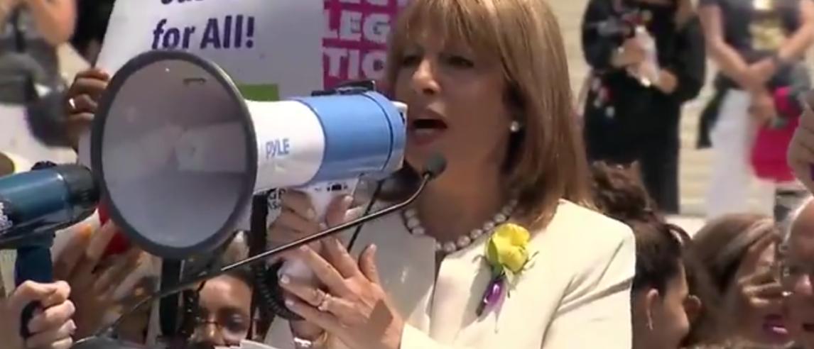 Crowd Cheers As California Rep. Jackie Speier Shouts Her Abortion