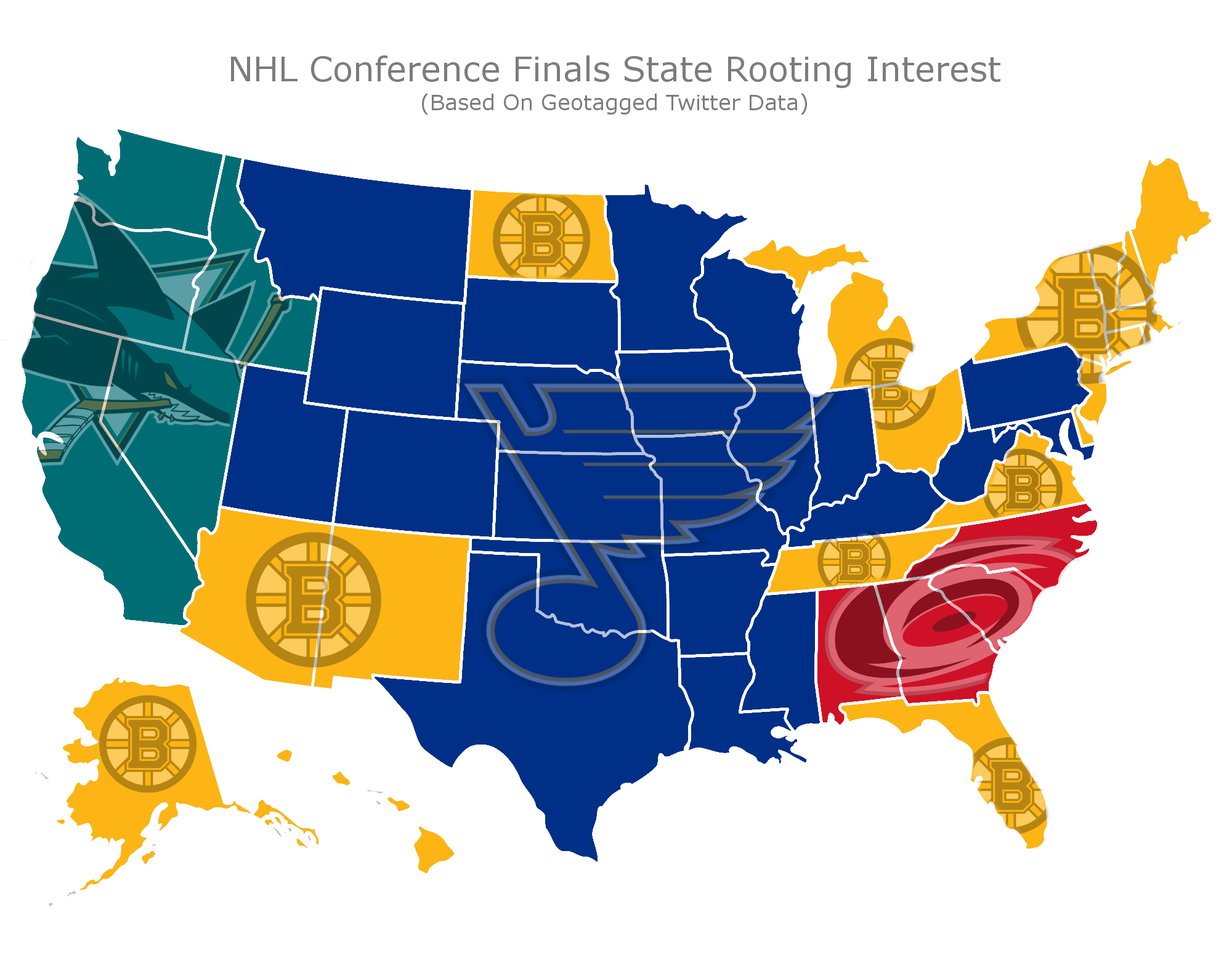 Stanley Cup Support Map (Credit: sportsinsider.com)