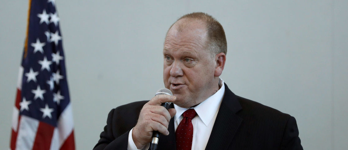 Thomas Homan, acting director of enforcement for ICE, holds a town hall meeting in Sacramento