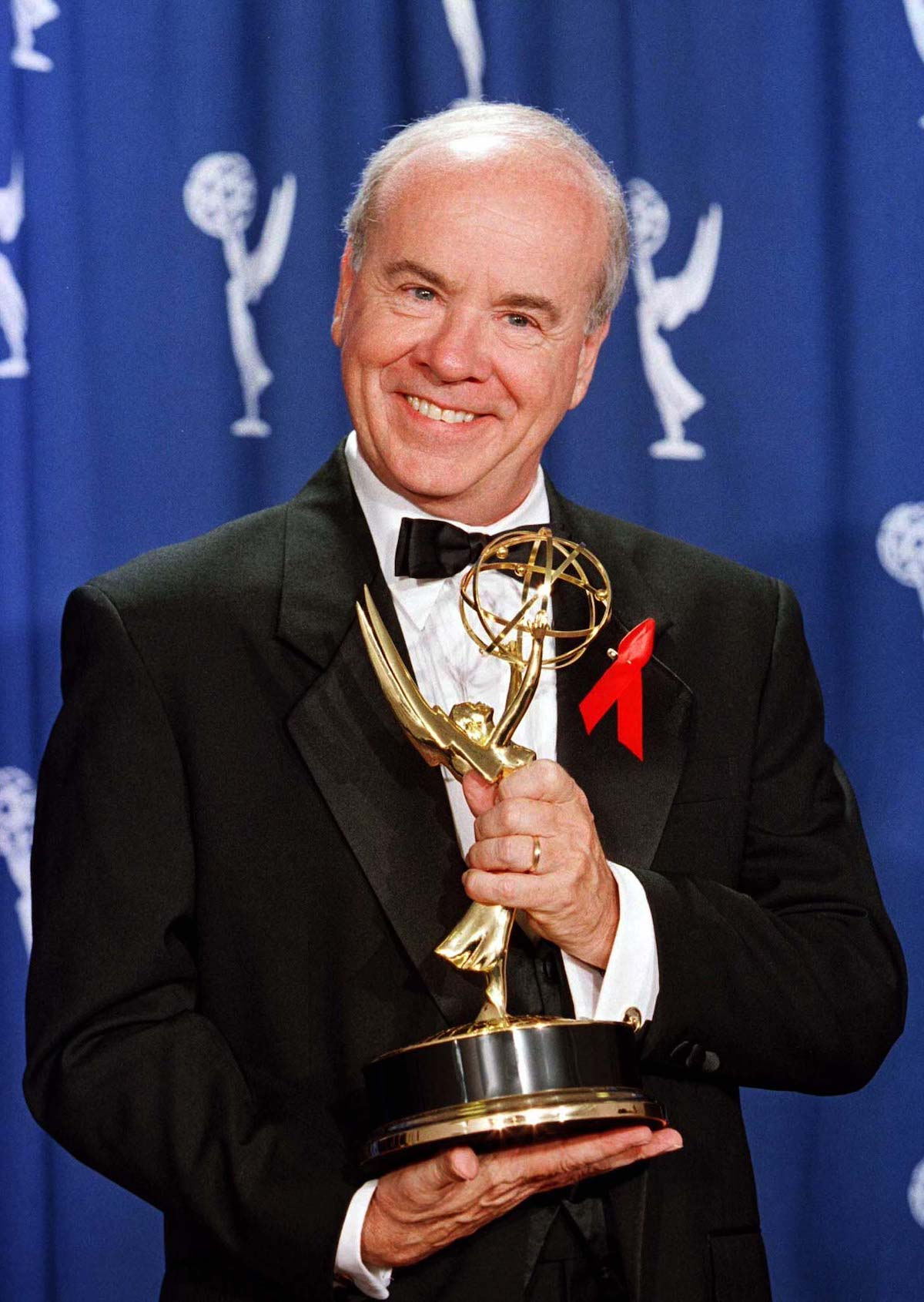 "Actor Tim Conway holds the Emmy he Actor Tim Conway holds the Emmy he won as best guest actor in a comedy series for his role in ""Coach"" September 8 at the 48th Annual Emmy Awards in Pasadena, Ca. Reuters/Jeff Vinnick"