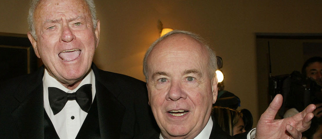 "Actors Harvey Korman (L) and Tim Conway pose together as they arrive for the Academy of Television Arts & Sciences 15th annual Hall of Fame ceremony November 6, 2002 in Beverly Hills. Korman and Conway, best known for their comedy work on ""The Carol Burnett Show"" were inducted into the academy's Hall of Fame which honors legendary television performers. REUTERS/Fred Prouser"