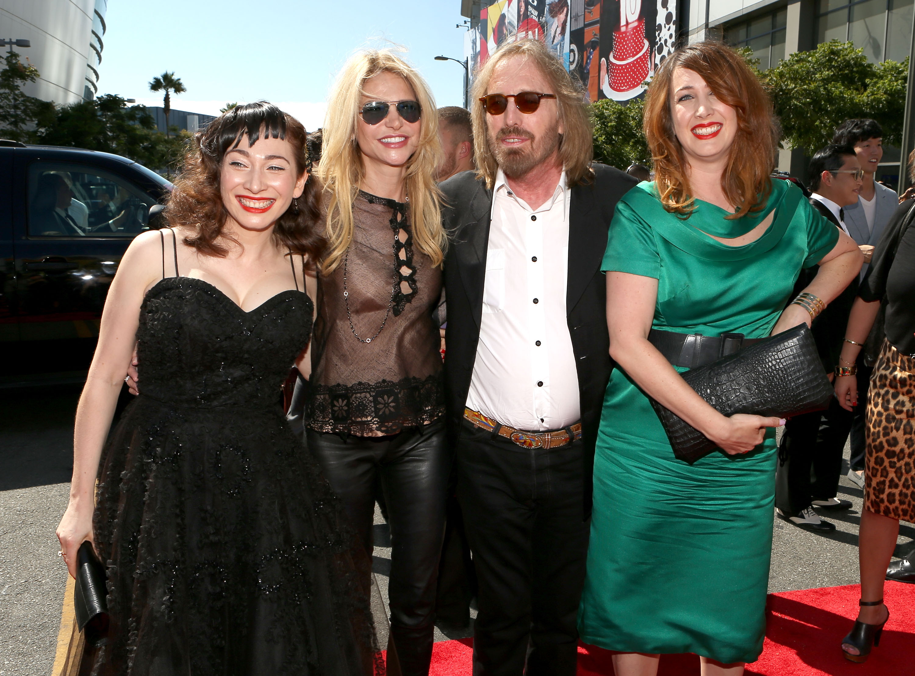 (L-R) Musician Regina Spektor, Dana York, musician Tom Petty and Adria Petty arrive at the 2012 MTV Video Music Awards at Staples Center on September 6, 2012 in Los Angeles, California. (Photo by Christopher Polk/Getty Images)