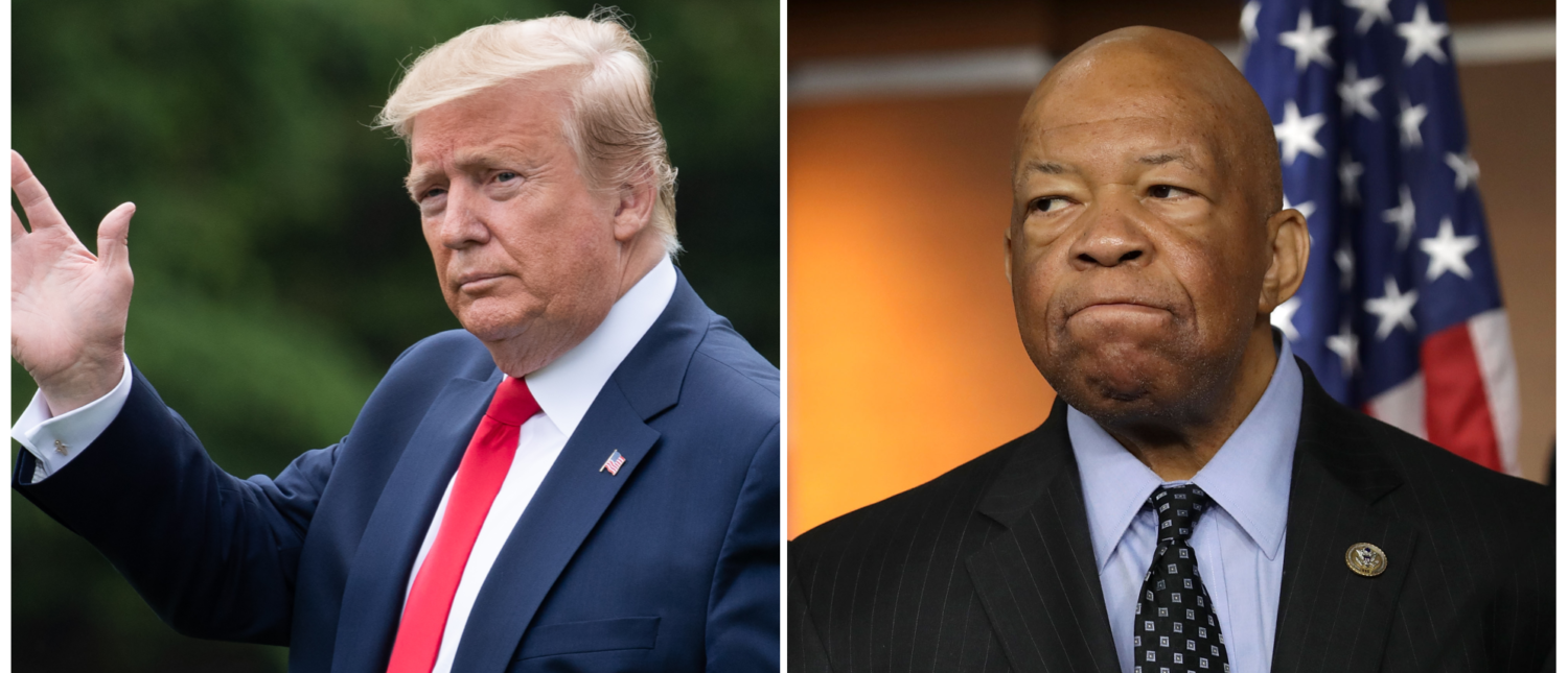 (L) President Donald Trump (R) House Oversight Committee chairman Elijah Cummings (Getty Images)