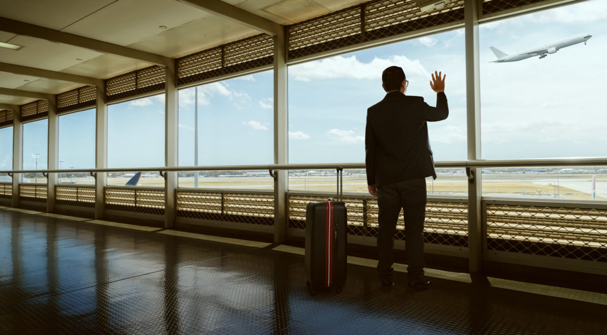 Waving Goodbye. Shutterstock