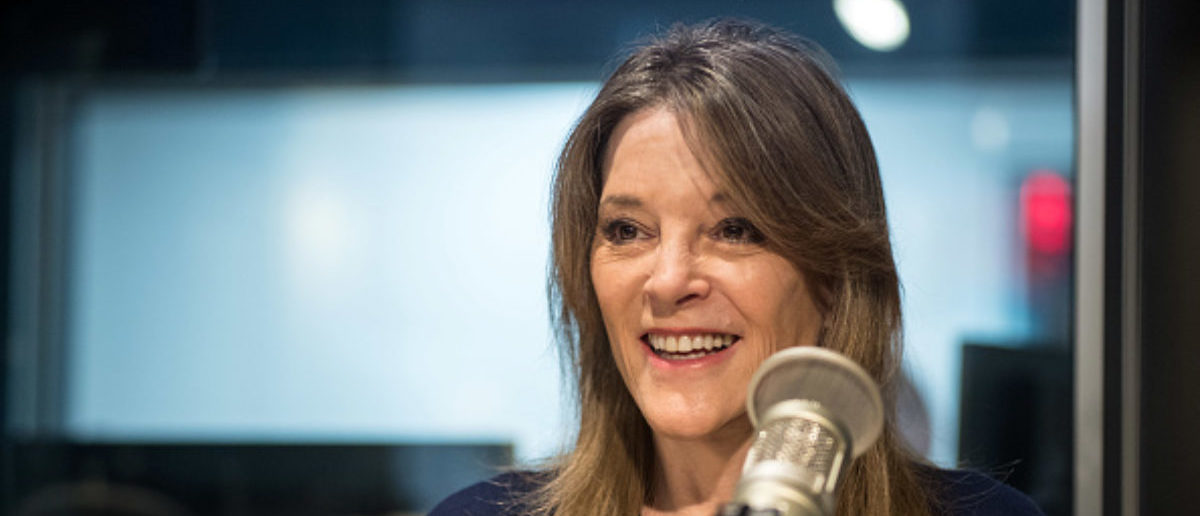 NEW YORK, NY - MARCH 07: (EXCLUSIVE COVERAGE) Marianne Williamson visits SiriusXM Studios on on March 7, 2019 in New York City. (Photo by Steven Ferdman/Getty Images)